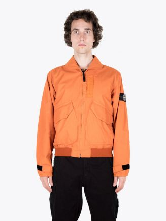 Stone Island 43699 Reflective Pilot Jacket Orange 1
