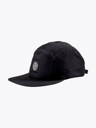 Stone Island 99094 Reflective Five-Panel Cap Black 1