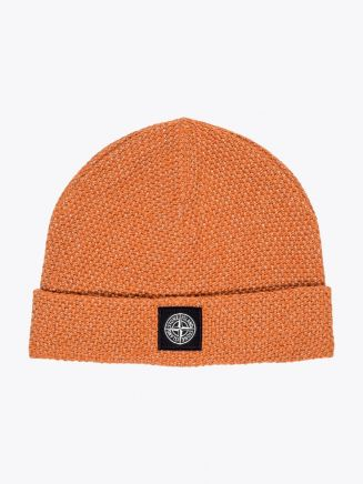 Stone Island N16C6 Reflective Beanie Orange 1