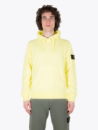 Stone Island 64151 Garment Dyed Hooded Sweatshirt Lemon 1