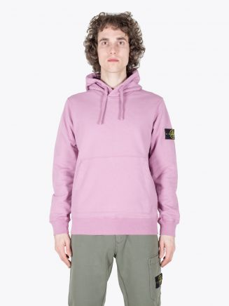 Stone Island 64151 Garment Dyed Hooded Sweatshirt Rose Quartz 1