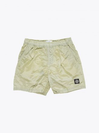 Stone Island B0943 Nylon Metal Swim Shorts Lemon