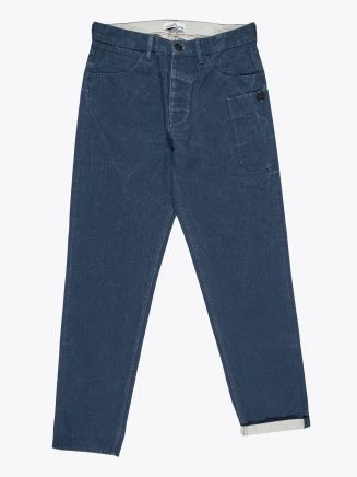 Stone Island J04J1 Panama Placcato RE-T Pants Marine Blue 1