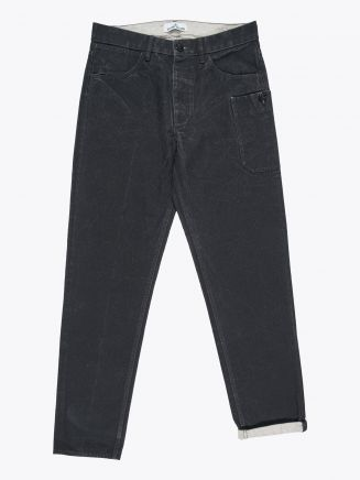 Stone Island J04J1 Panama Placcato RE-T Pants Black