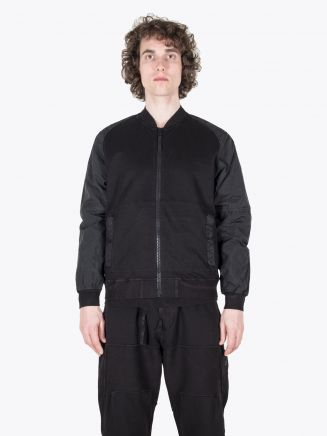 Stone Island Shadow Project 60107 Compact Bomber Jacket Black 1