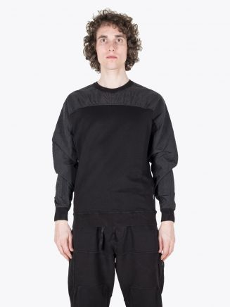 Stone Island Shadow Project 60507 Compact Crew-Neck Sweatshirt Black 1