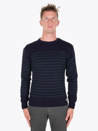 Armor-Lux Fisherman Jumper Heritage Rich Navy/Tige Full View