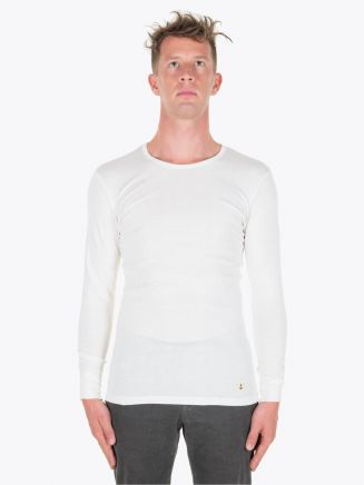 Armor-Lux Long Sleeved T-shirt Heritage Off White Full View