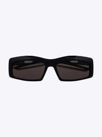 Balenciaga Hybrid Rectangle Sunglasses Black / Black 1