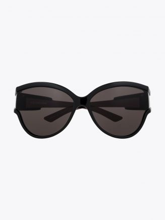 Balenciaga Unlimited Cat-Eye Sunglasses Black / Black 001 1