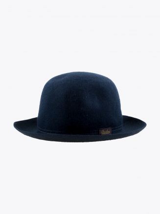 Borsalino Hat Medium-Brimmed Traveller Rabbit-Felt Navy Blue 1