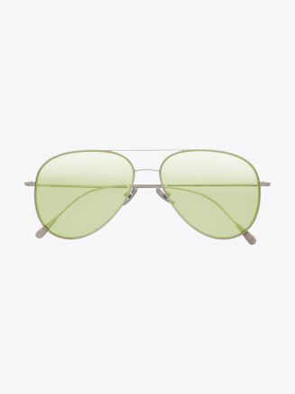 Cutler and Gross 1266 Aviator Sunglasses Palladium Plated with Pale Blue Lens Front