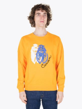 Carven Cricket Molleton Sweat Orange Vif Full View