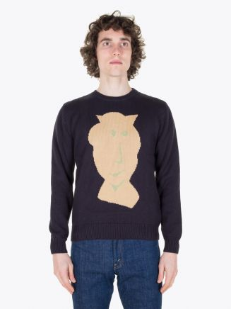 Carven Pull Vallauris Knit Pullover Marine Full View