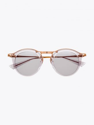 Christian Roth Oskari Sunglasses Light Grey Crystal - Rose Gold 1