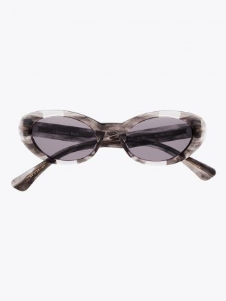 Christian Roth Oskari Sunglasses Brown Smoke - White Gold 1
