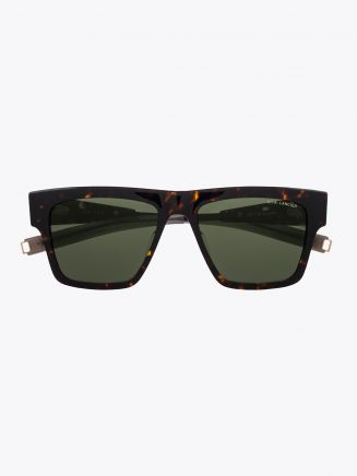 Dita-Lancier LSA-701 Rectangle Sunglasses Tortoise / Black Gun