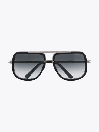 Dita Mach-One Sunglasses Antique Silver Matte Black 1