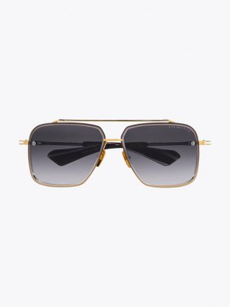 Dita Mach-Six Aviator Sunglasses Yellow Gold Front View