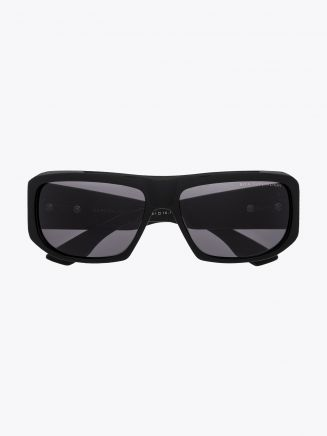 Dita Superflight Rectangular Sunglasses Black Front View
