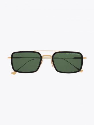 Dita Flight.008 Aviator-Style Sunglasses Black /Gold Front View