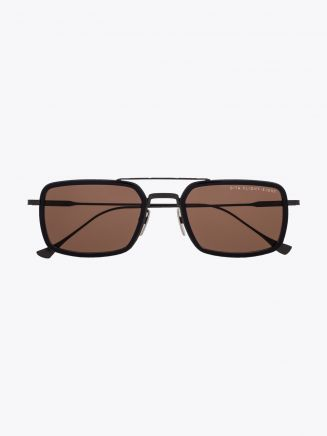 Dita Flight.008 Aviator-Style Sunglasses Navy/Black Iron Front View