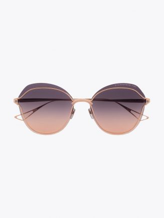Dita Nightbird-Two Butterfly Sunglasses Rose Gold 1