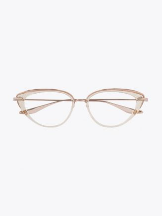 Dita Lacquer Optical Glasses White Rose Crystal – Rose Gold 1