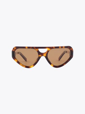 Fakbyfak Cyber Limbo Sunglasses Havanas/Solid Brown Front