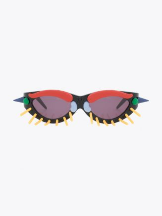 Fakbyfak X Walter Van Beirendonck Toy Glasses Black with Pins Front