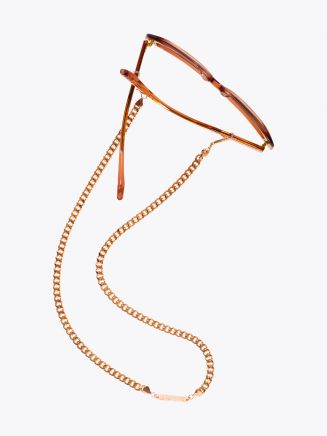 Frame Chain Diamond Geezer Chain Glasses Rose Gold 1