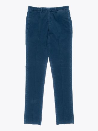 GBS trousers Adriano Stretch Cotton Corduroy Blue Front