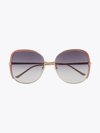 Gucci Squared Shape Sunglasses Gold / Gold 001 1