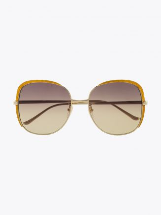 Gucci Squared Shape Sunglasses Gold / Gold 002 1