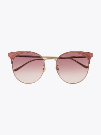 Gucci Cat-Eye Sunglasses Gold / Gold 004 1