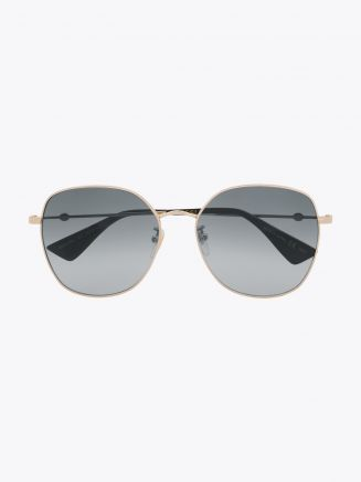 Gucci Round Shape Sunglasses Gold / Gold 001 1