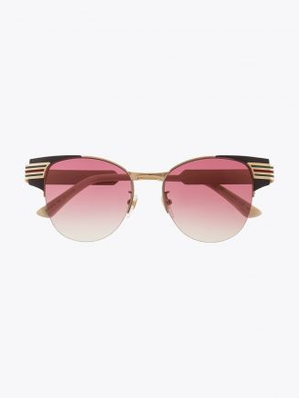 Gucci Cat-Eye Combi Shape Sunglasses Brown / Gold 1