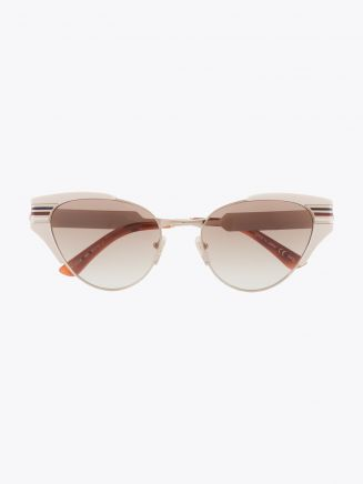 Gucci Cat-Eye Shape Sunglasses Ivory / Gold 1