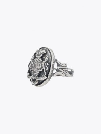 Goti Medieval Crest Ring Sterling Silver 1