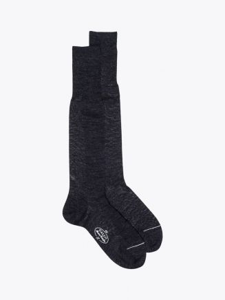 Gallo Long Socks Plain Wool Anthracite