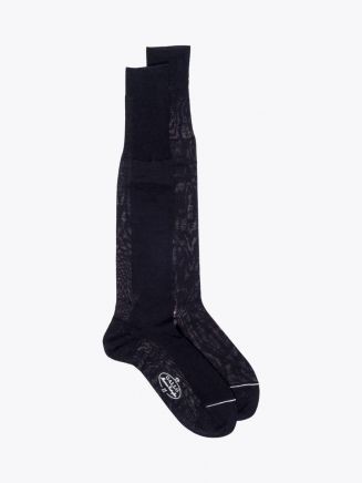 Gallo Long Socks Plain Wool Black