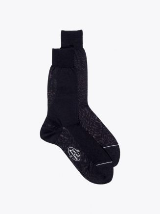 Gallo Short Socks Plain Wool Black 1