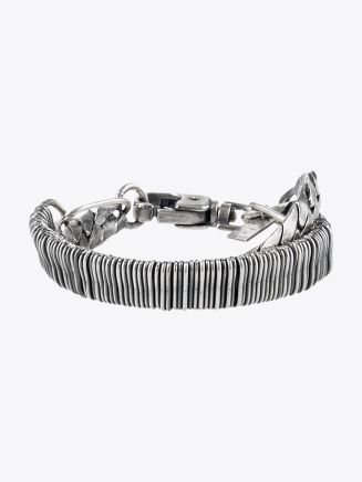 Goti Double Chain Bracelet Sterling Silver 1