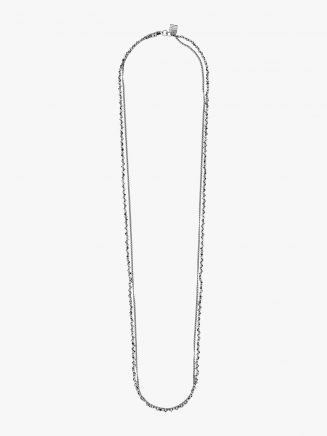 Goti CN1247 Silver Necklace w/Stone