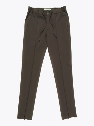 Giab's Archivio Masaccio Viscose Drawstring Pants Military Green 1
