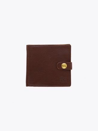 Il Bisonte C0816 Man's Cowhide Leather Wallet Brown Front