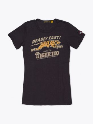 Johnson Motors Deadly Fast Women's T-Shirt Black Front