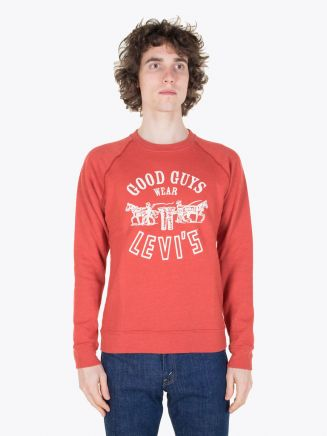Levi's Vintage Clothing 1970's Levi's Sweatshirt Red Melee Full View