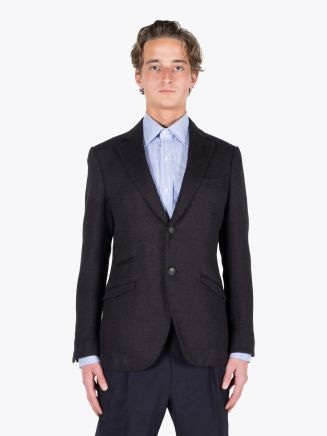 Maurizio Miri Dustin Full Canvas Cotton Blazer Black 1