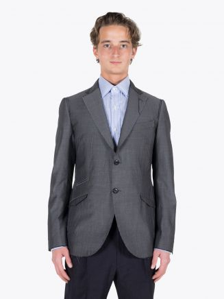 Maurizio Miri Vincent Full Canvas Wool Blazer Grey 1